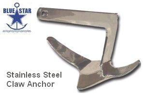 Blue Star SS Claw Anchors