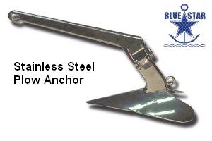 Blue Star SS Plow Anchors